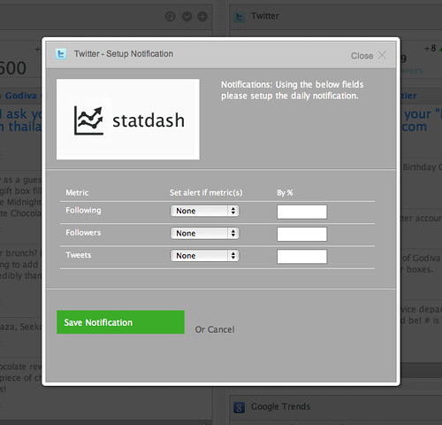 Statdash screen shots