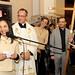 Lu Alckmin durante discurso da inauguração do novo ponto de divulgação na Basílica