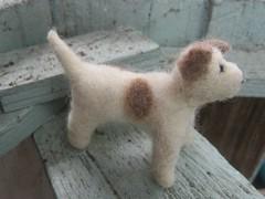 Blythe sized needle felted dog