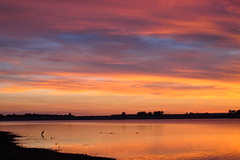 IMG_5941 (Light from Light) Tags: sunrise water orange sky clouds canong12 colorado boydlake