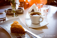 coffee break (faith locke siewert) Tags: abstract greek coffee baklava