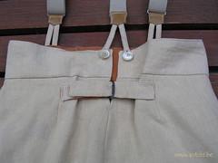 détail pantalon à l