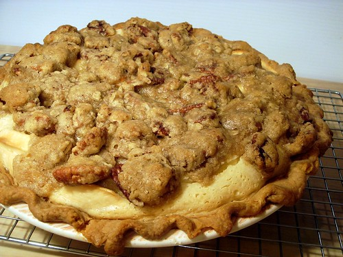apple custard crumb pie