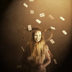 queen of diamonds (brookeshaden) Tags: girl cards visions book mask worlds purchase blurb brookeshaden