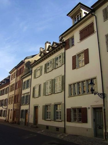 houses on Rheinsprung street in Basel