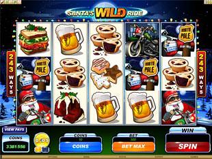 Santa's Wild Ride slot machine