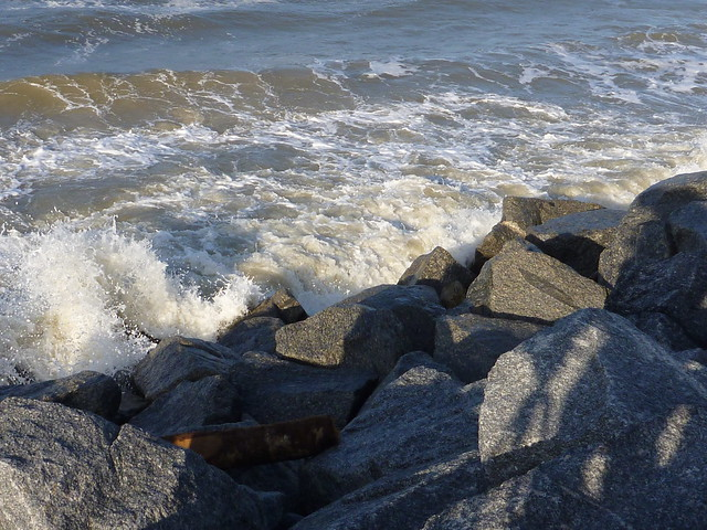 Waves on Cape San Blas rocks