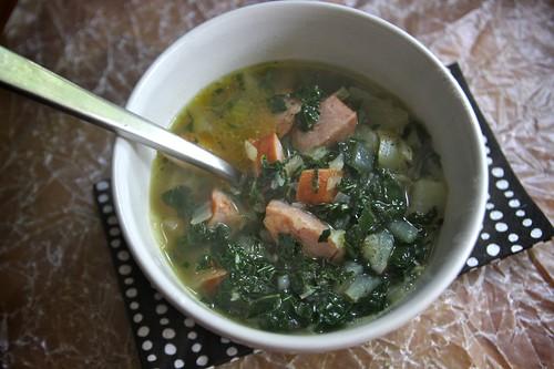 portuguese sausage & kale soup