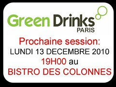 Session GREEN DRINKS PARIS 13122010