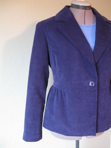 Blue cord jacket side