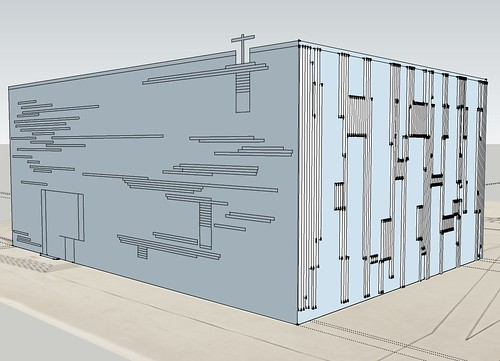 St. Bride's SketchUp - east & north wall