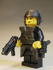 Heavy Redtron Scout (CrazyBrck) Tags: black green angel dark chaos lego armor unknown collectible minifigs custom source minifigure brickarms brickforge redtron crazybrick