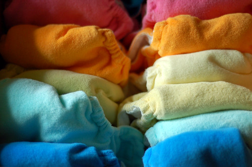 candy-colored diapers