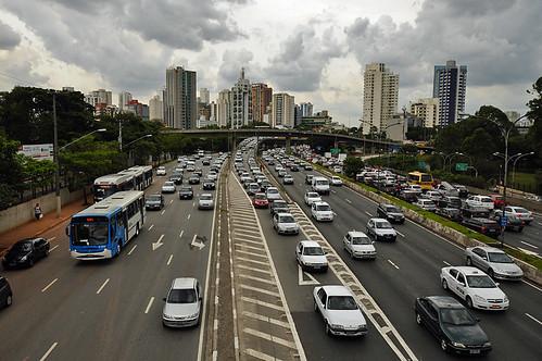 der Verkehr in Sao Paulo