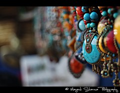 Rainbow in jewelry !! (Mayank Sharma renewed :D :D) Tags: carnival blue girls red woman india colors yellow metal stone canon neck necklace market delhi jewelery dillihaat gemstone