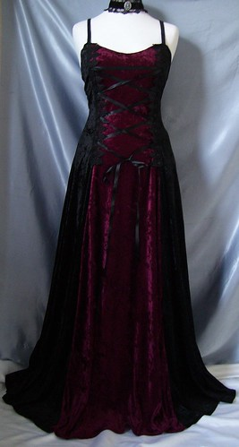 gothic corset wedding dresses