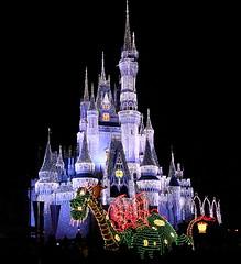 Dragon Guarding the Castle (MJH20) Tags: world street vacation orlando florida magic main kingdom disney parade wdw walt electrical