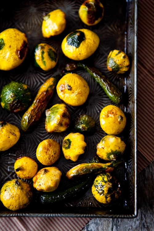 Roasted Patty Pan Squash & Zucchini