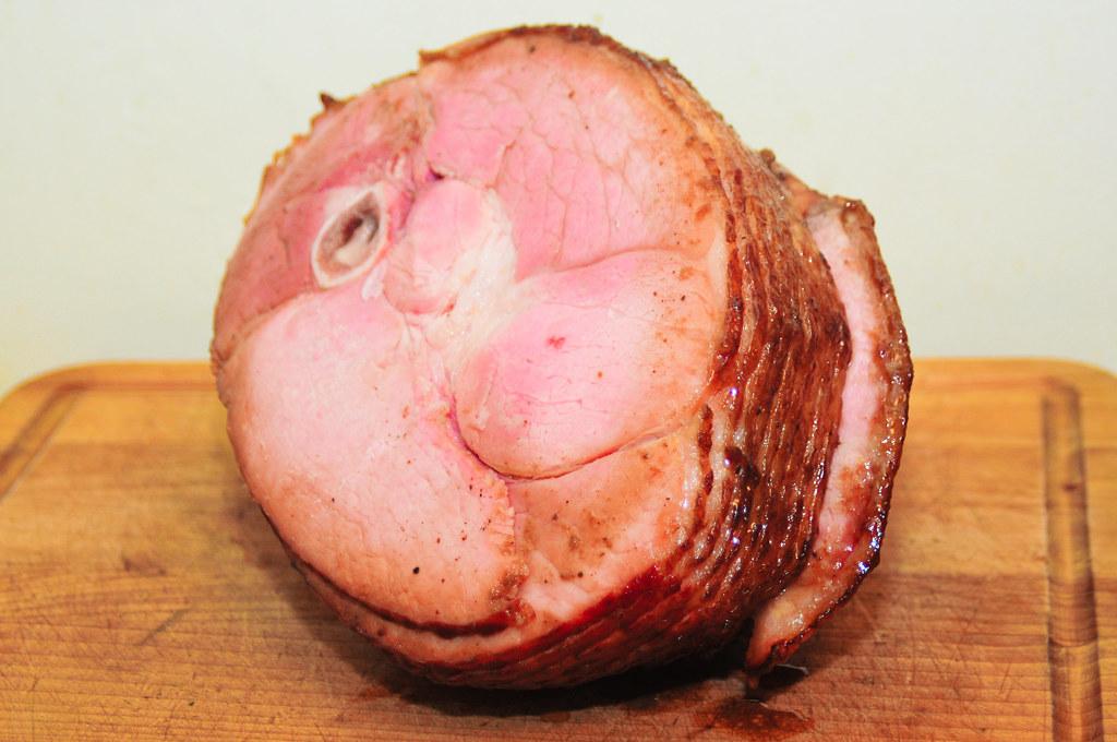 Mustard-Whiskey-Glazed Ham