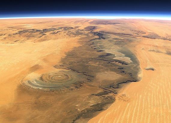 Око Сахары из космоса