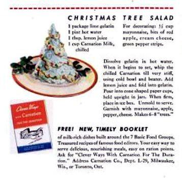 Christmas Tree Salad Life Dec 20 1943