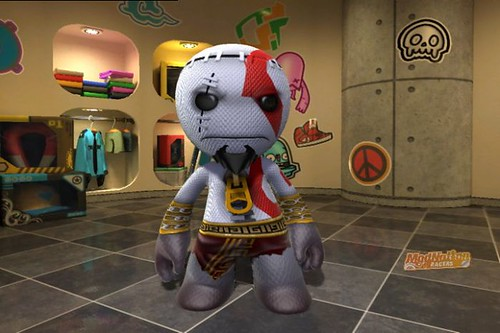 ModNation Racers PS3: Kratos Sackboy