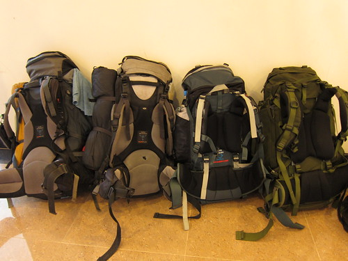 nasze plecaki na granicy