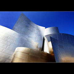 Assembled in the light (1crzqbn) Tags: sunlight color building art metal architecture reflections stainlesssteel shadows quote contemporary wideangle 7d lecorbusier society frankgehry waltdisneyconcerthall 348 project365 artdigital 1crzqbn assembledinthelight netartii