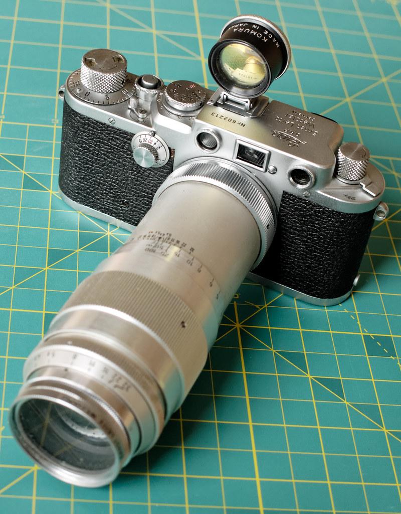 Leica camera with Culminar 135mm f/4.5 lens