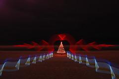 oh tannenbaum (duane.schoon) Tags: longexposure blue light red lightpainting yellow night neon florida christmastree sarasota sparkler lidobeach duanesphotos duaneschoon christmas2010