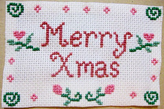 merry xmas (LaPaTs) Tags: christmas cross stitch ornament