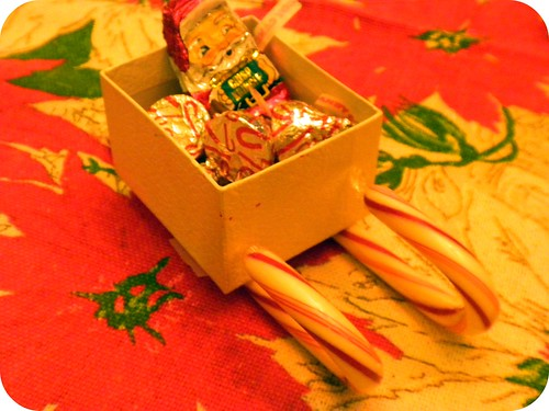 White Box Candy Sleigh