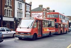 Go Ahead London Central MRL196, J696CGK. (EYBusman) Tags: street bus london buses ahead coach high general go transport central regional minibus tooting mcw metrorider streetline optare j696cgk eybusman