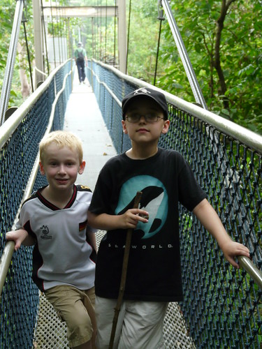 Owen and Reed on the Bridge