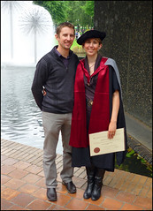 Graduation (katepedley) Tags: new newzealand christchurch dave university december kate graduation canterbury zealand southisland geology phd sciences geological doctorofphilosophy