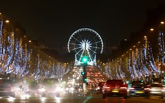 Christmas in Paris - Champs Elyses  Nol (Sir Francis Canker Photography ) Tags: christmas xmas trip travel panorama paris france tower tourism natal seine architecture weihnachten french landscape navidad europa europe exposure tour view shot champs elyses trails landmark eiffel visit icon montmartre tourist best latin