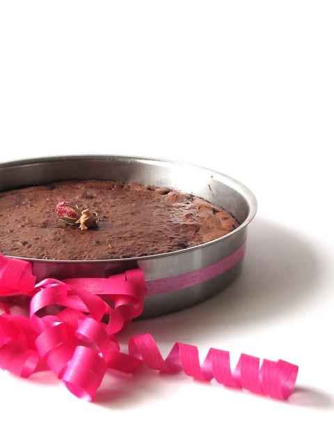 Fondant al Cioccolato e Lamponi con Sale alla Rosa