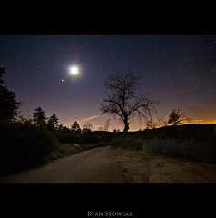 Laguna Mountain 3rd (CA grown) Tags: road city blue winter orange moon mountain tree fall silhouette contrast dark stars dead shower december purple desert sandiego horizon magenta freezing brush 1600 meteor highiso cuyamaca mountlaguna sigma1020mm scrubland canonrebelxti