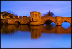 St. Ives - St. Ives Bridge and the River Great Ouse (Yen Baet) Tags: uk greatbritain bridge cambridge england church water architecture night river twilight ancient riverside unitedkingdom britain song chapel icon medieval quay british bluehour iconic stives cambridgeshire eastanglia quayside 15thcentury olivercromwell oldbridge stonearchbridge greatouse europeanbridges asiwasgoingtostives photosofbridges