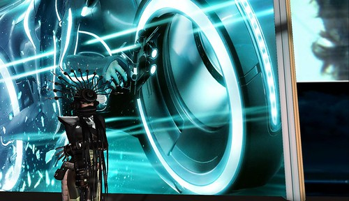 immersive installation in second life influenced by Disney's Tron movie