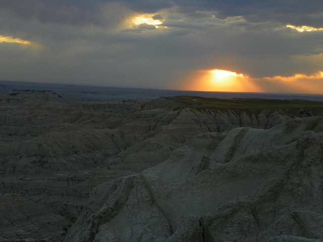 Sunset on Badlands