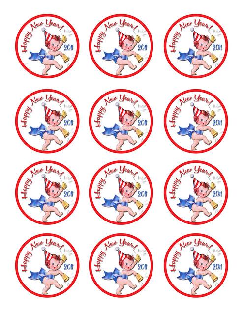 New Year 2011 Freebie Vintage Tags