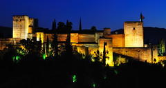 La Alcazaba de la Alhambra (cadviodi) Tags: alcazaba alhambra granada andaluca andalucia spain espaa castle night iluminada sannicols san nicols nicolas sannicolas plaza plazadesannicols viewpoint albaizn albaizin