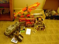 Mah loot! :D:D:D:D:D (WWII brick) Tags: christmas lego loot nerf