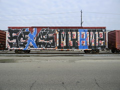 Sexes & Myans (Sk8hamburger) Tags: car graffiti paint tx tag whole boxcar tagging rt sexes wholecar endtoend mayans e2e ckd