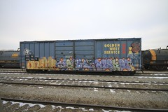 SKEME | DACK | BISKET (grbenching) Tags: train bench graffiti graff railyard dack freights shef bisket goldenwestservice benching skeme