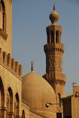 Dome and Minaret of Barquq Mosque (DSLEWIS) Tags: minaret egypt mosque cairo islamiccairo muizz muizzstreet