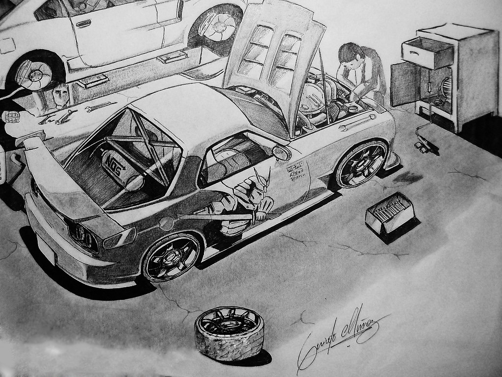 This is a picture of Adorable Mazda Rx7 Drawing
