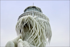Ice Beard (Tom Gill.) Tags: winter lighthouse ice pier michigan stjoseph lakemichigan icicle icecovered