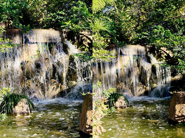 Morikami waterfall diptych